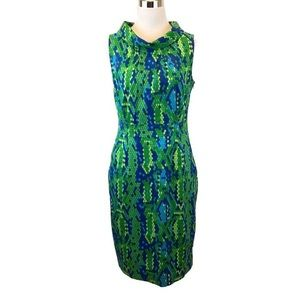 EUC Lilly Pulitzer Lulu Reptile Cowl Neck Dress 4